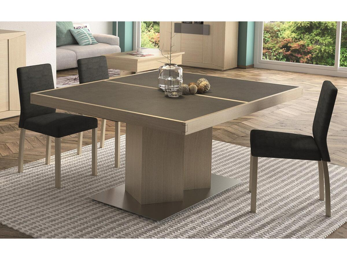 table ovale extensible pied central awesome table chene. Black Bedroom Furniture Sets. Home Design Ideas