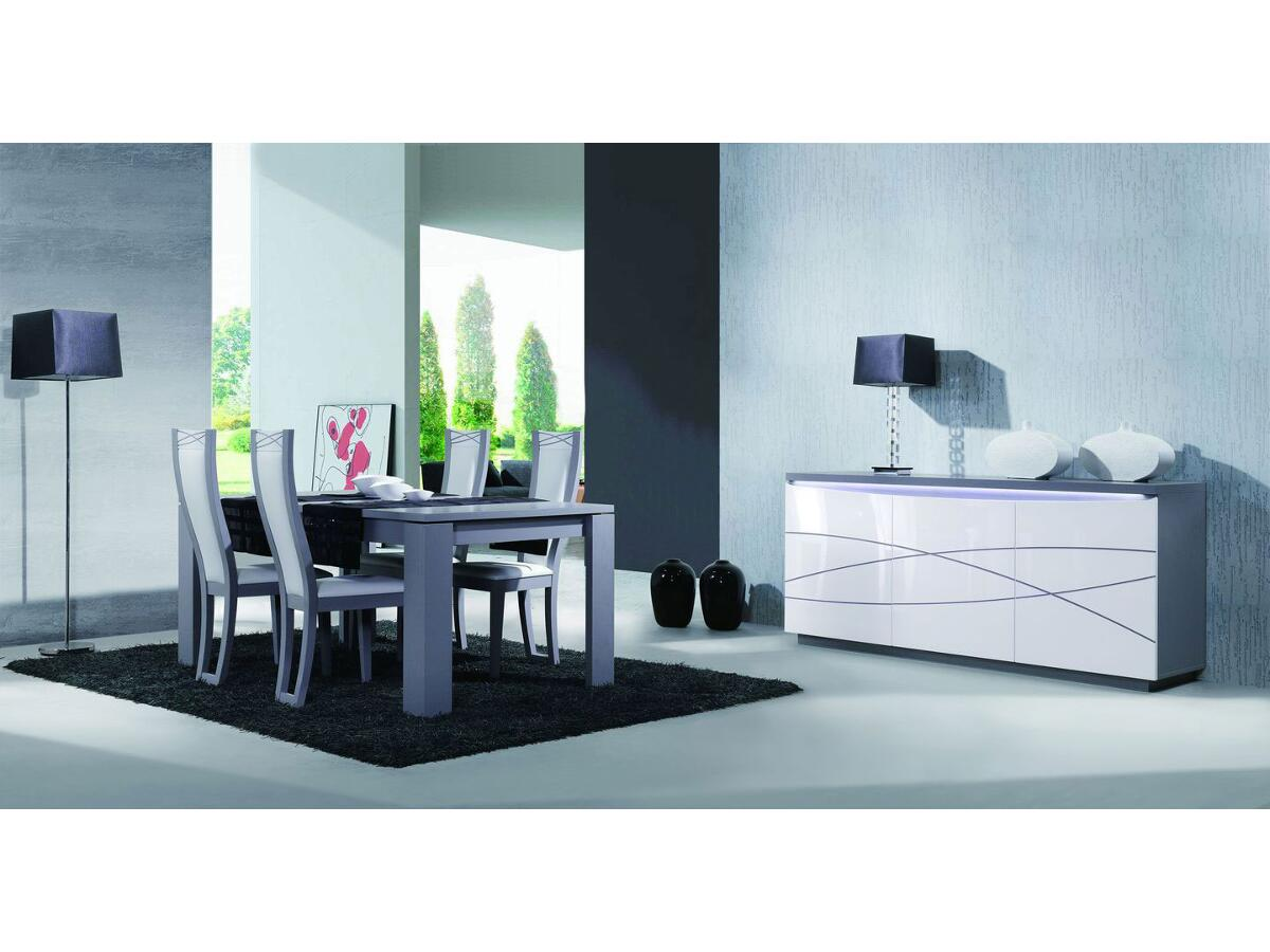 Table rectangulaire 2 allonges