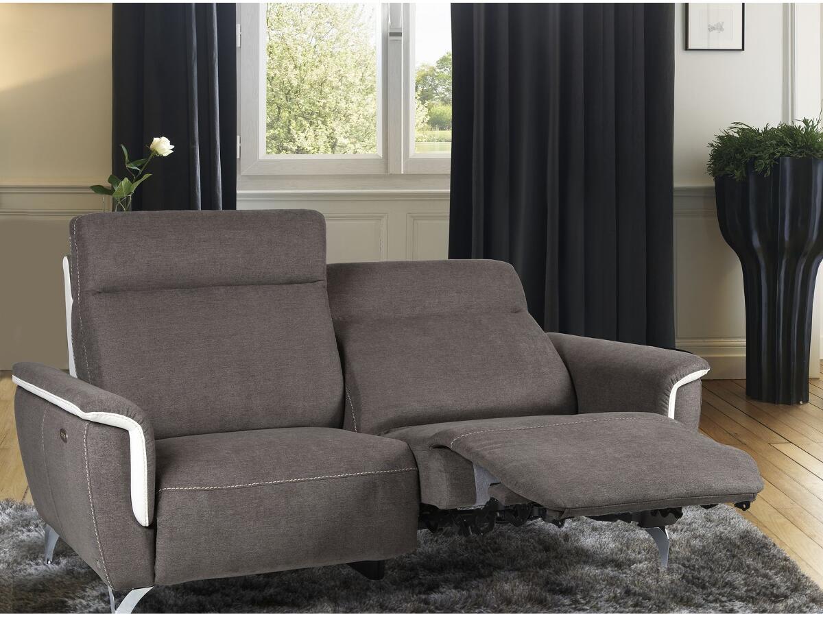 canap 2 relax lectriques brou. Black Bedroom Furniture Sets. Home Design Ideas