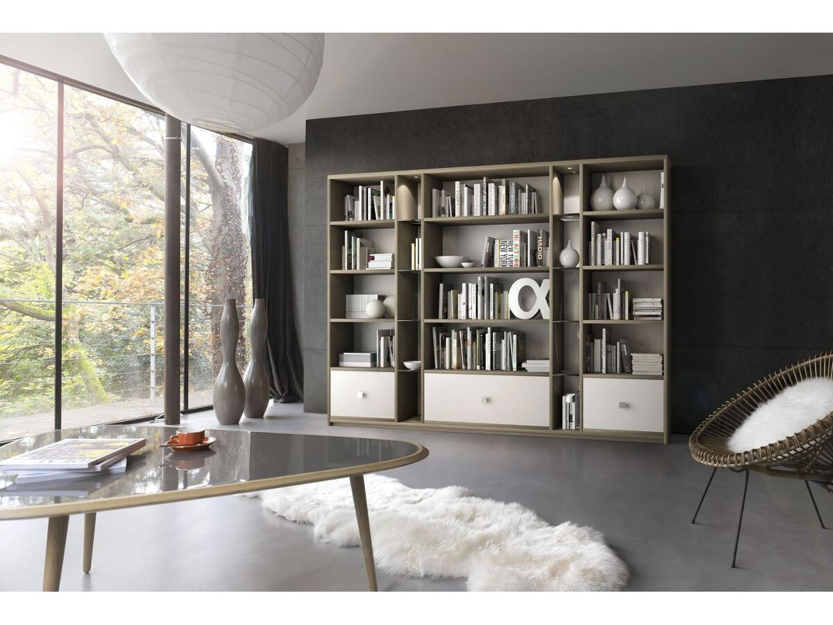 2 modulable biblioth que sur mesure brou. Black Bedroom Furniture Sets. Home Design Ideas