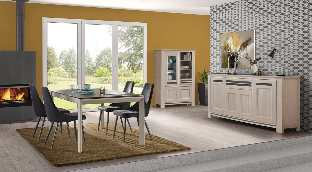 2 enfilade 4 portes 1 tiroir brou. Black Bedroom Furniture Sets. Home Design Ideas